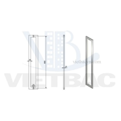 Tay cửa kính T10-(80cm)